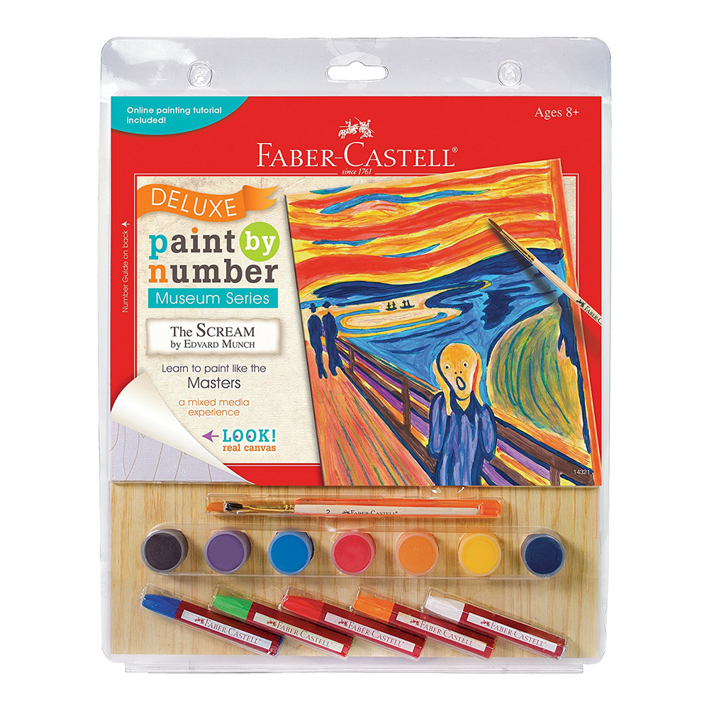 buy faber castell paint/number the scream