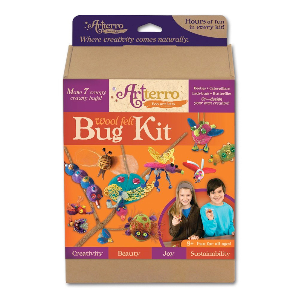 Artterro Wool Felt Bug Kit