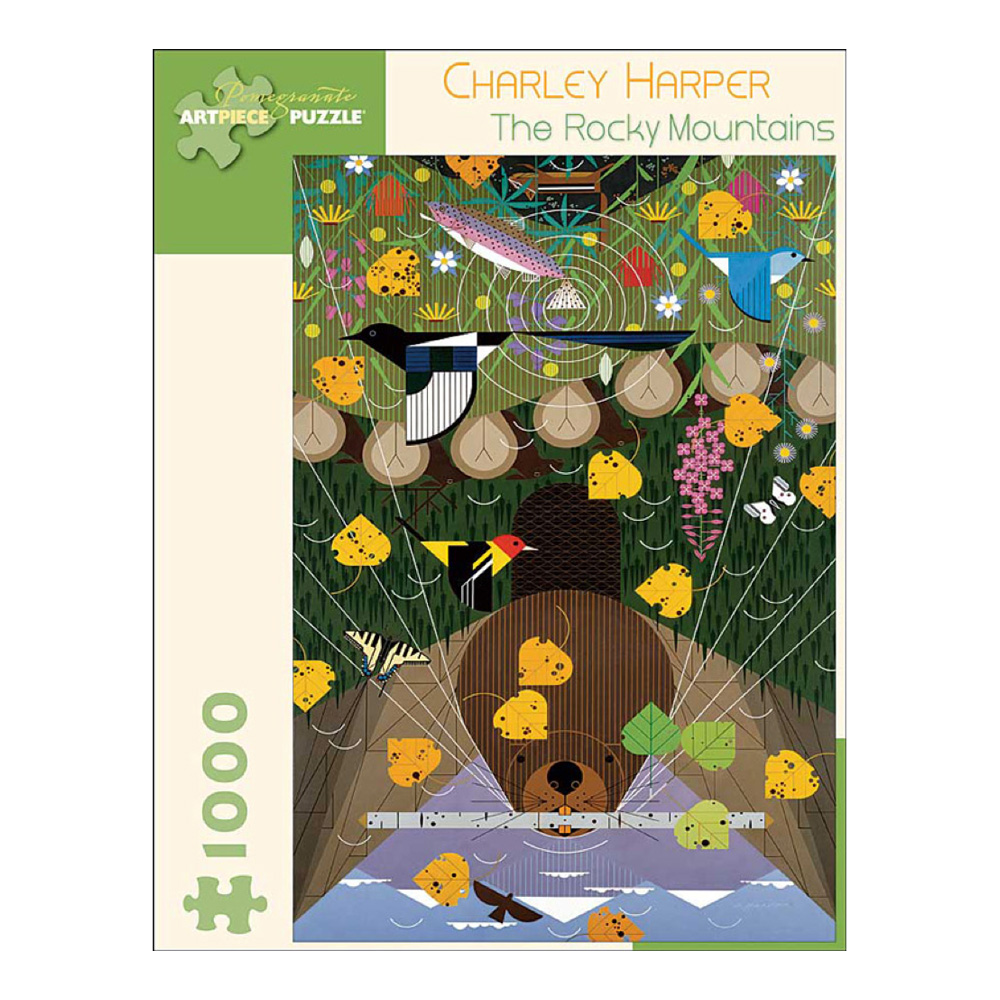 Puzzle: Charley Harper Rocky Mountians 1000Pc