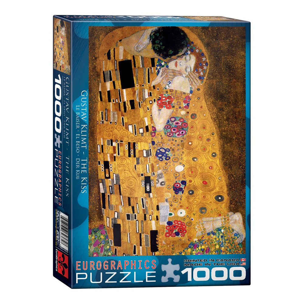 Puzzle: Klimt The Kiss (dur Kuss) 1000 Pieces