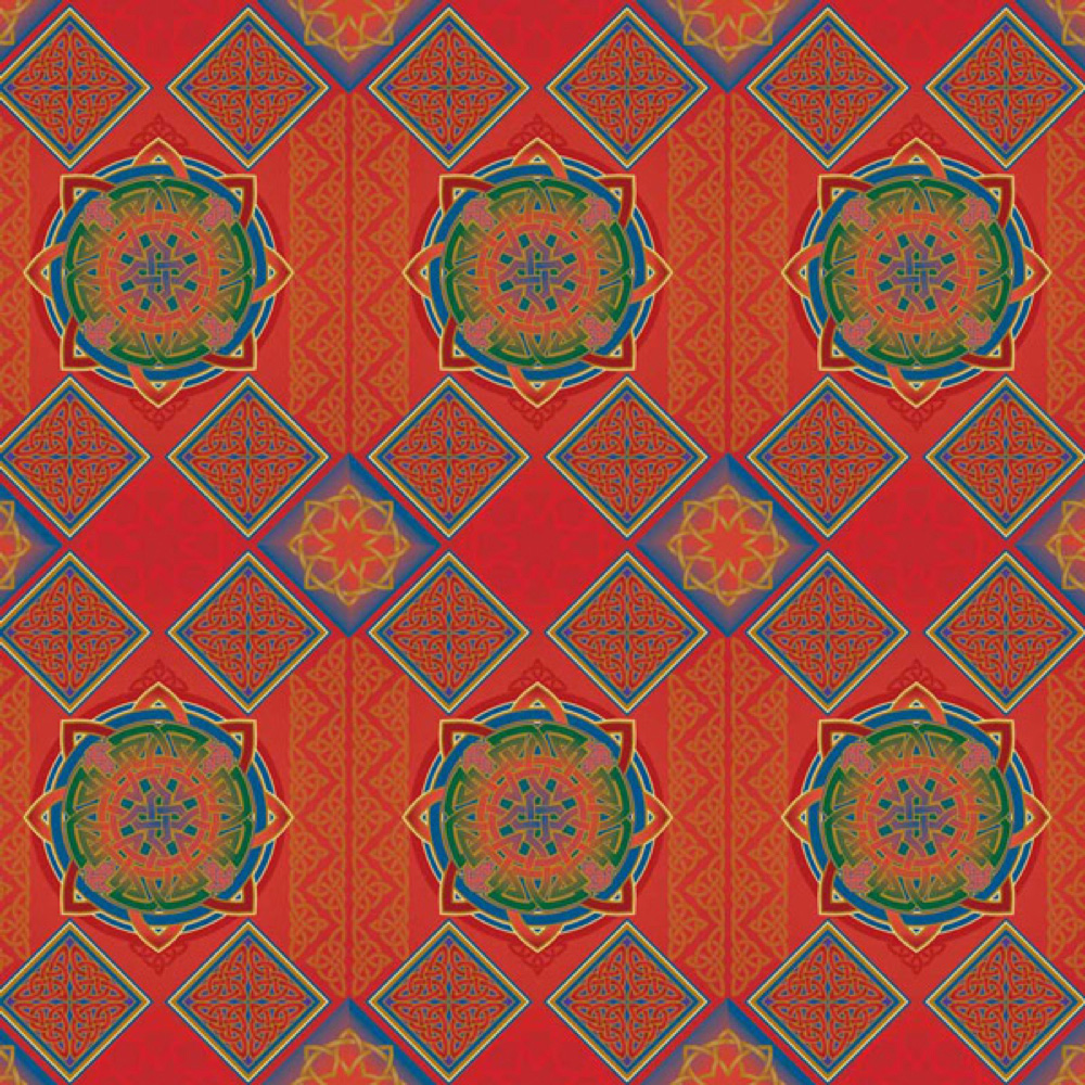 Gift Wrap: Red Celtic Knots