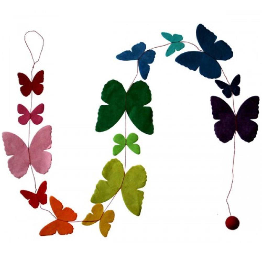 Lama Li Paper Garland Butterfly Asst Colors