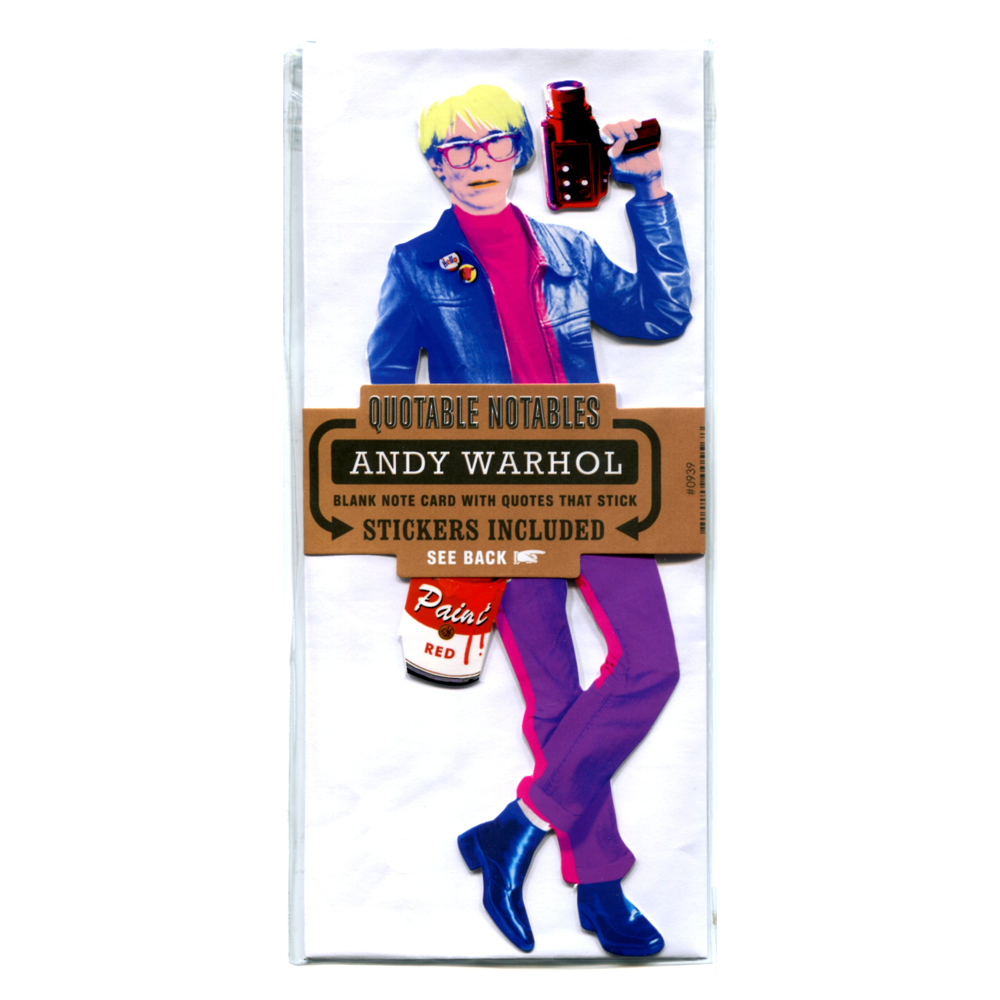 Quotable Notables Card: Andy Warhol