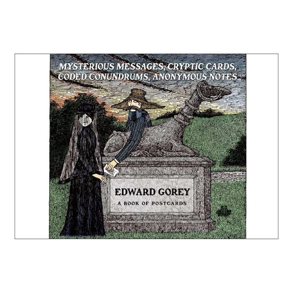 Postcard Book Edward Gorey Mysterious Message