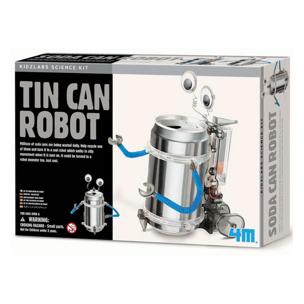 Green Science Kit Tin Can Robot