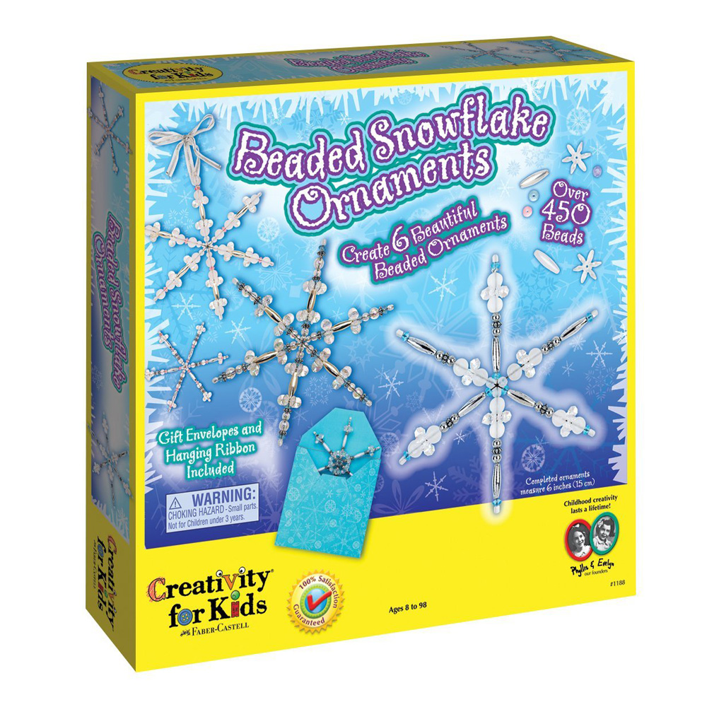 Creativity For Kids Beaded Snowflake Ornament