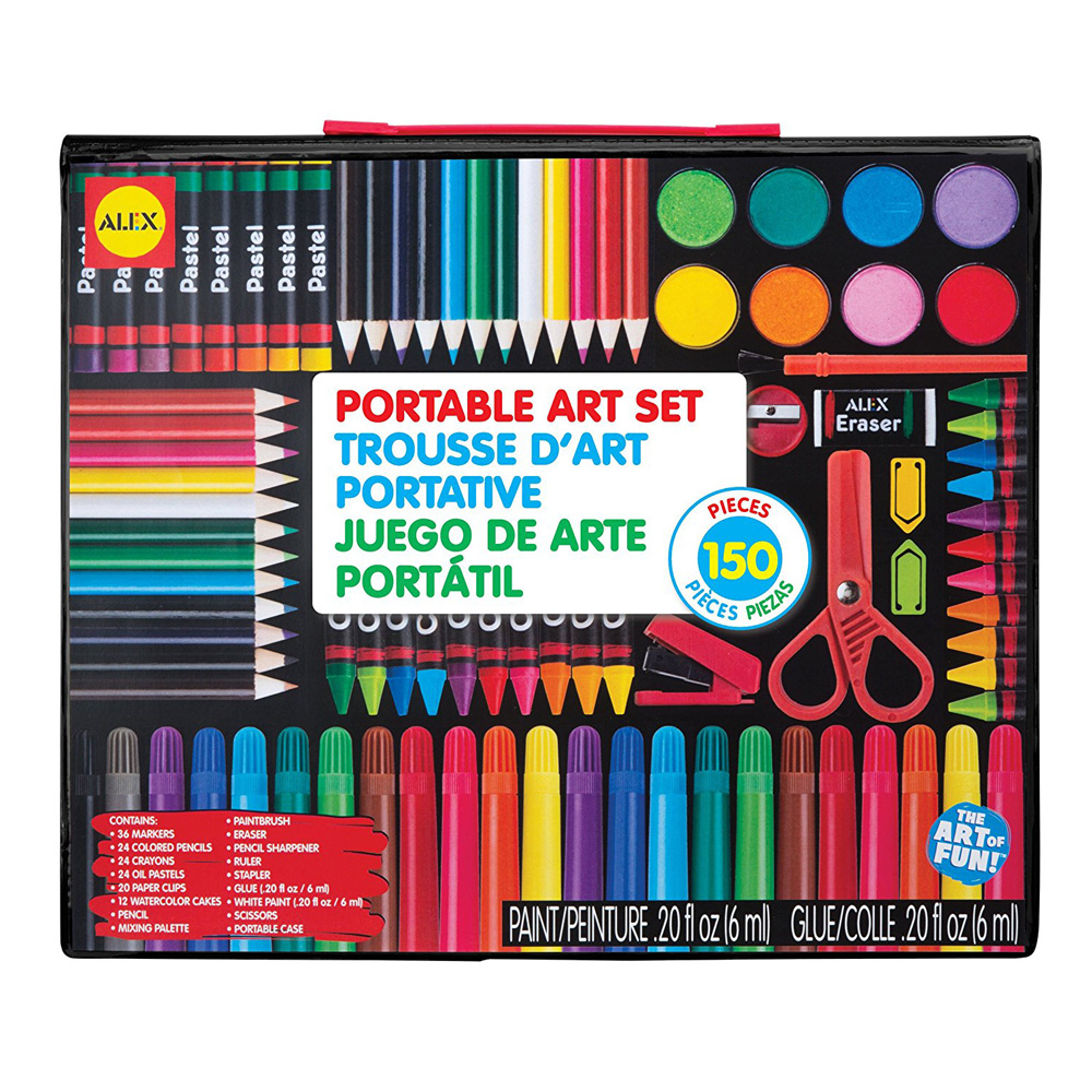 Alex Portable Art Set - 150 Pieces