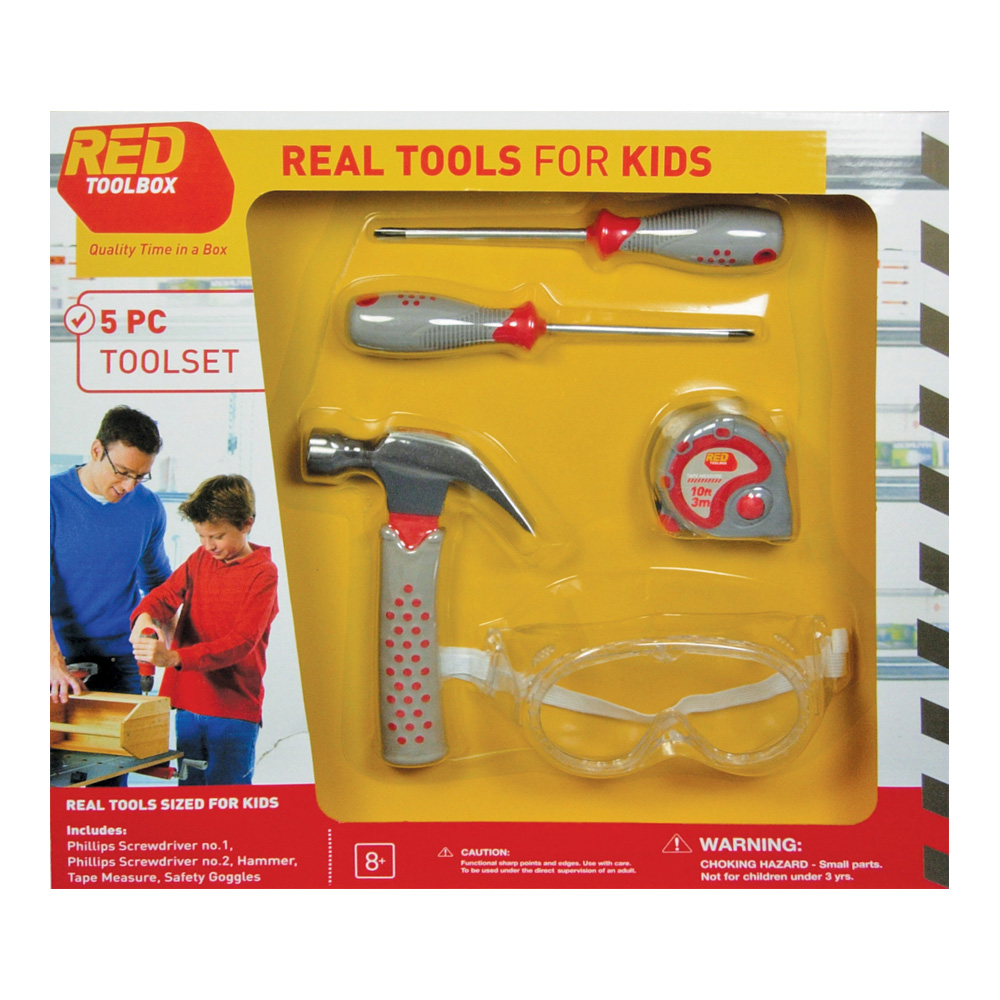 Red Toolbox 5-Piece Toolset