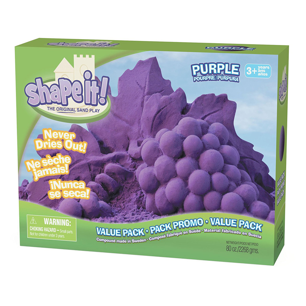 Shape It! Sand Purple 5Lb Box