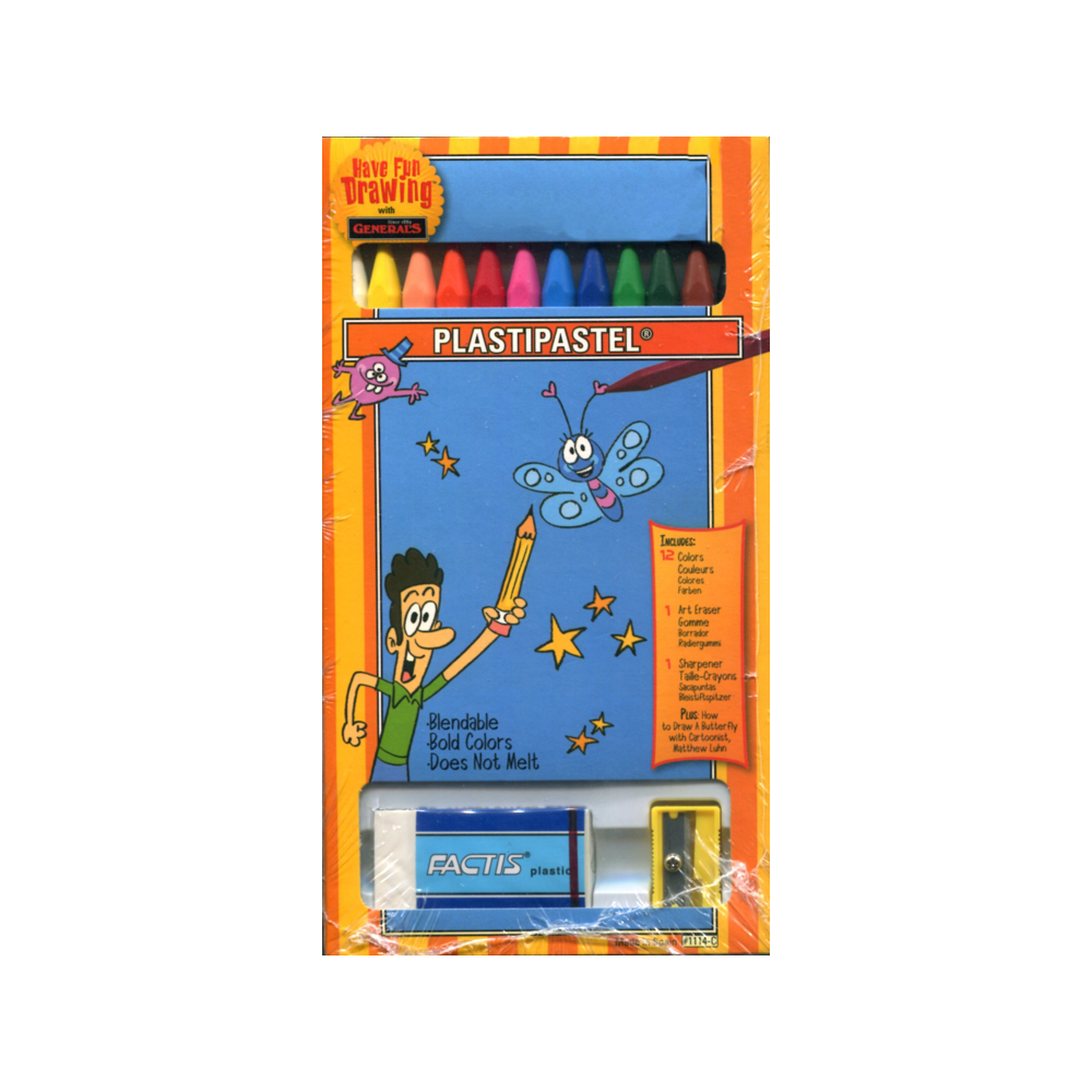 General Plastipastel Crayons Set/12