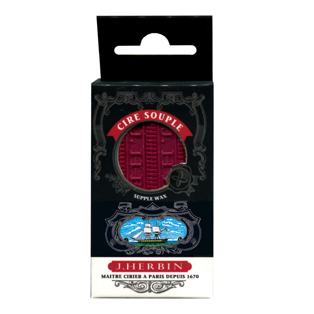 Herbin Supple Sealing Wax 4/Pack Burgundy