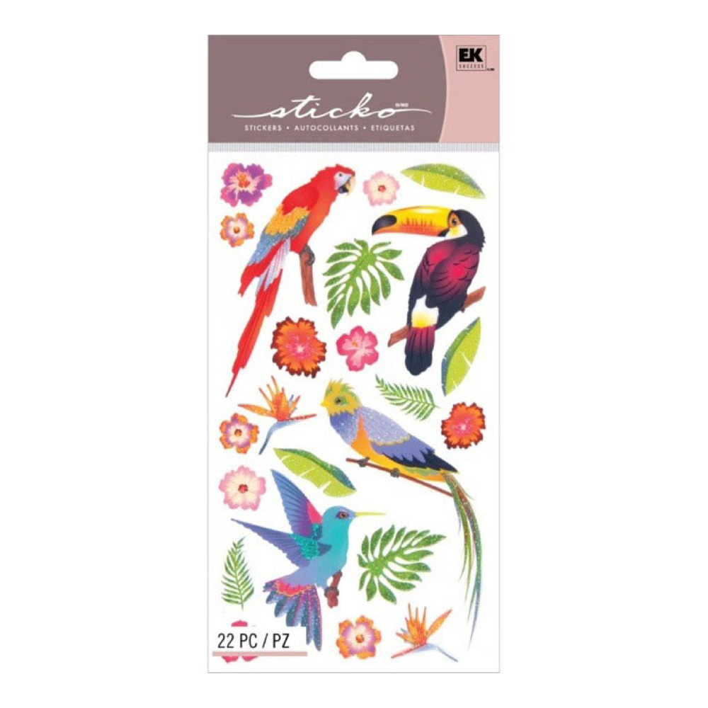 Sticko Stickers Colorful Birds