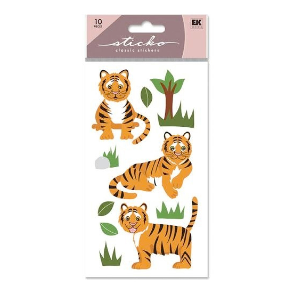 Stickopotamus Stickers Tiger Glitter