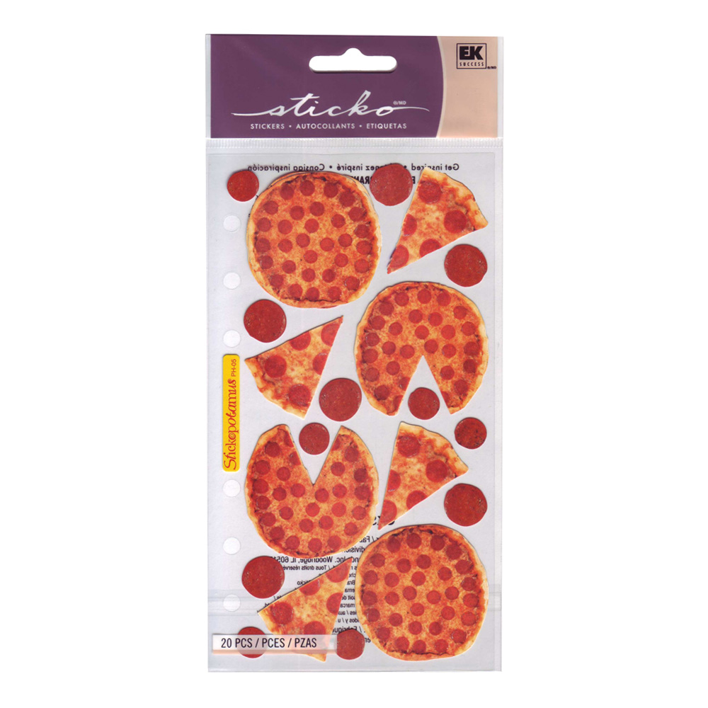 Stickopotamus Stickers Pizza