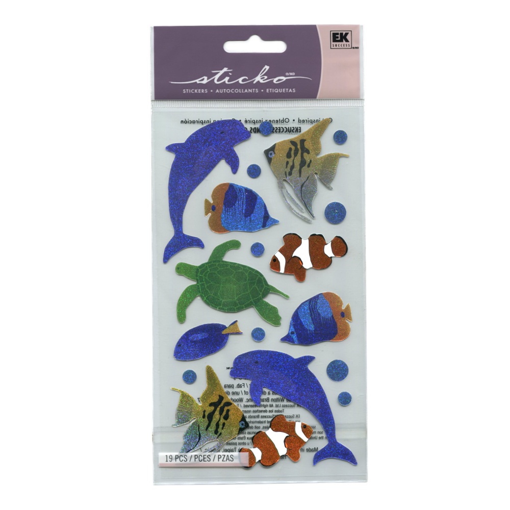 Stickopotamus Stickers Sea Animals Metallic
