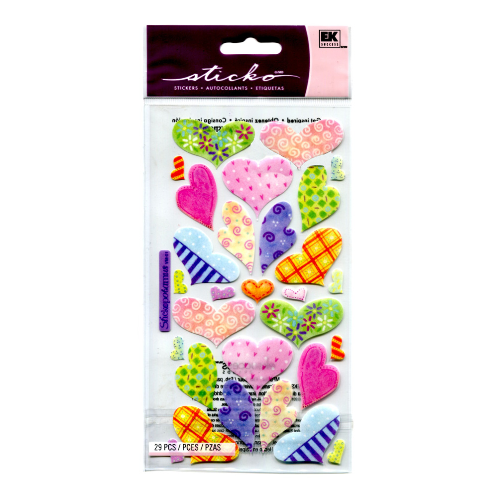 Stickopotamus Stickers Pastel Hearts Light