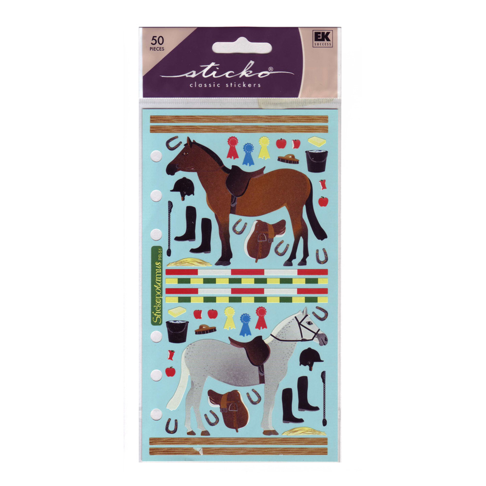 Stickopotamus Stickers Horse Stable
