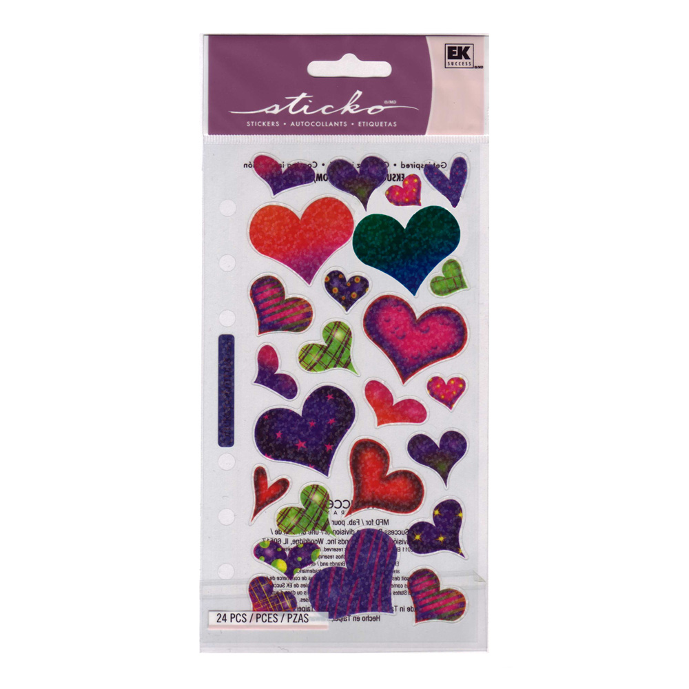Stickopotamus Stickers Sparkle Hearts