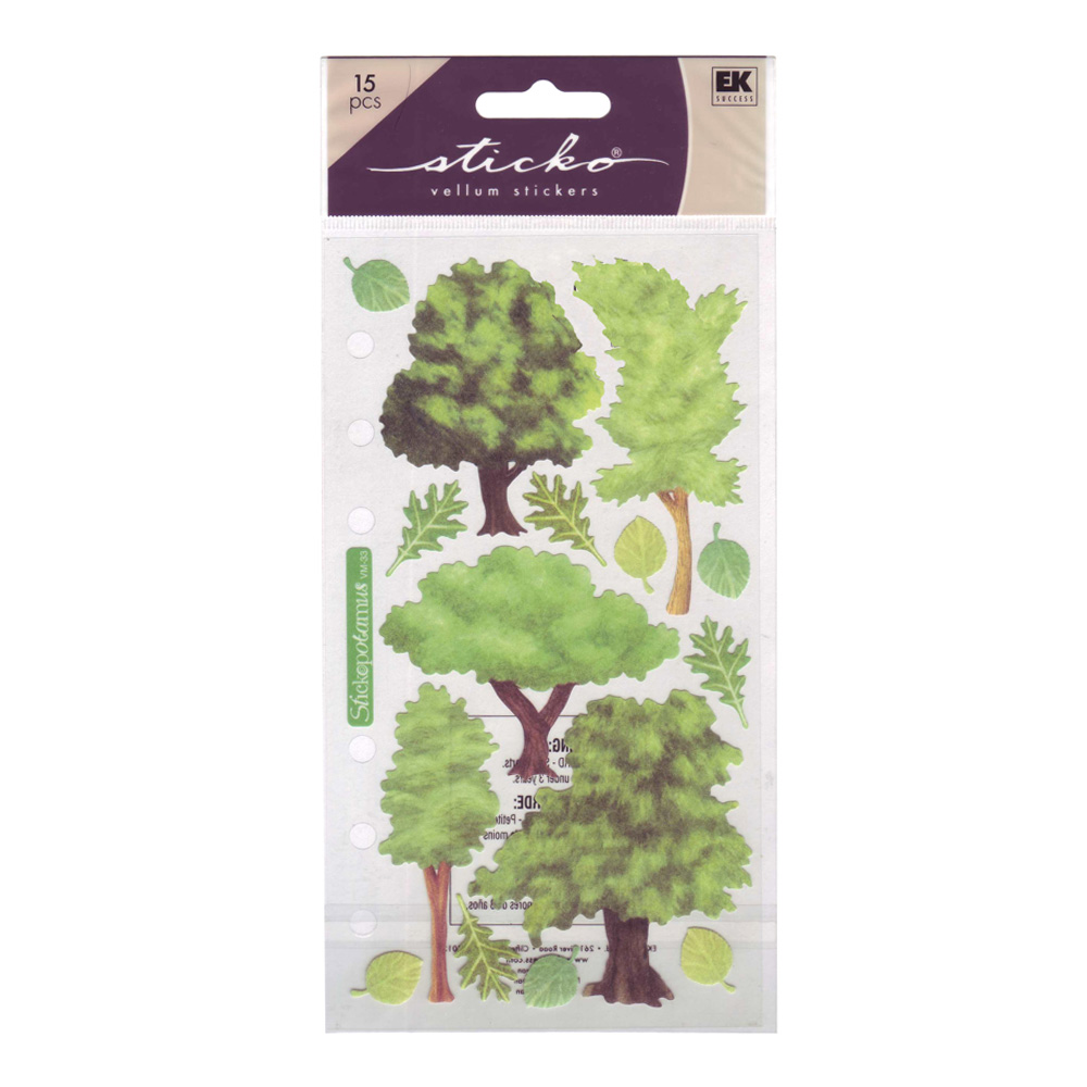 Stickopotamus Stickers Vellum Trees