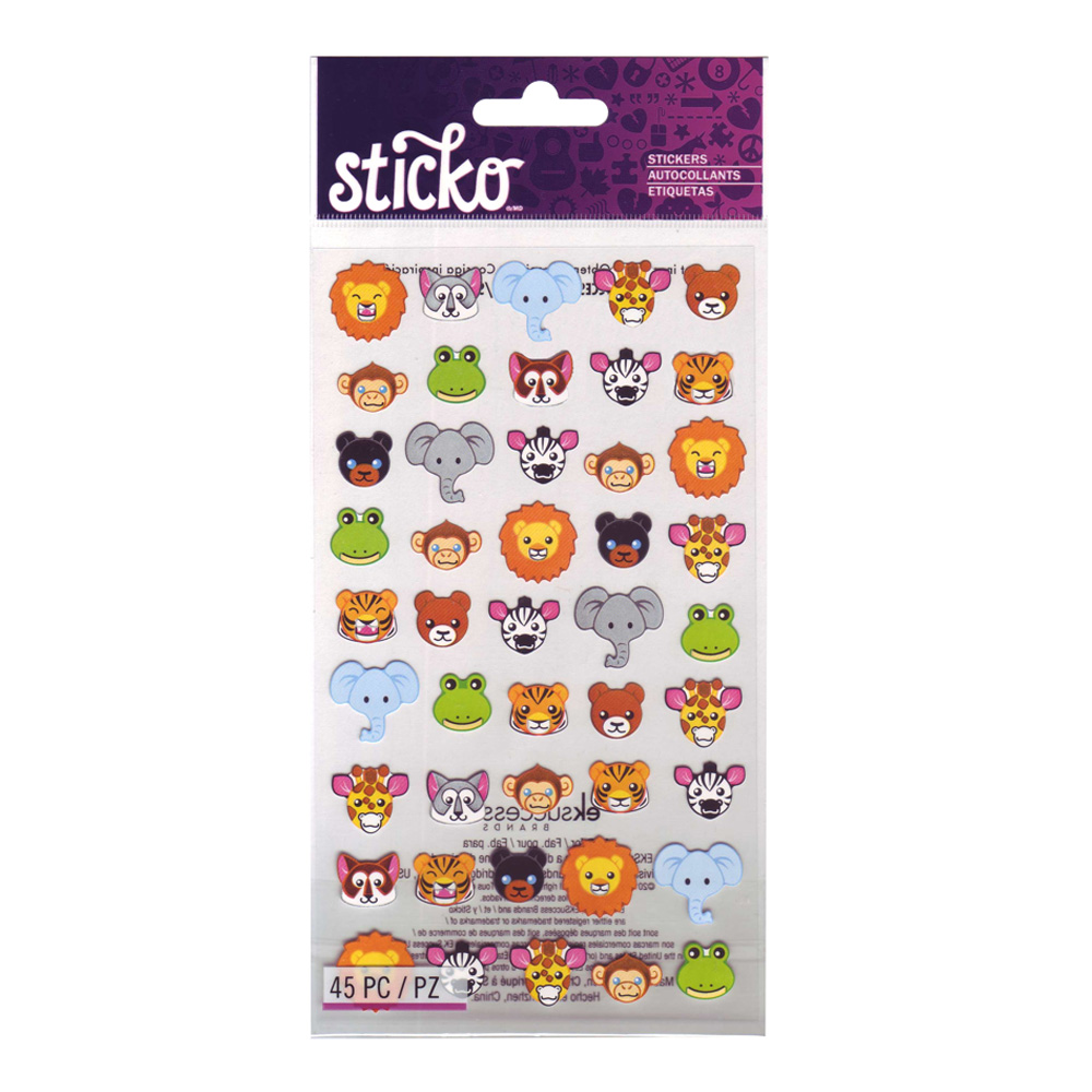 Stickopotamus Stickers Zoo Faces