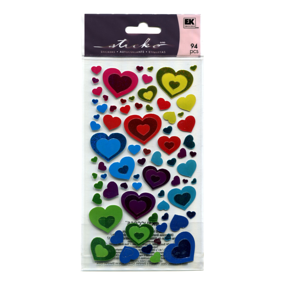 Stickopotamus Stickers Metallic Hearts