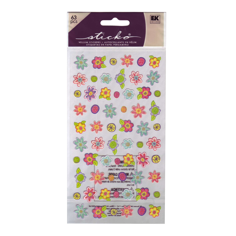 Stickopotamus Stickers Small Teeny Flowers