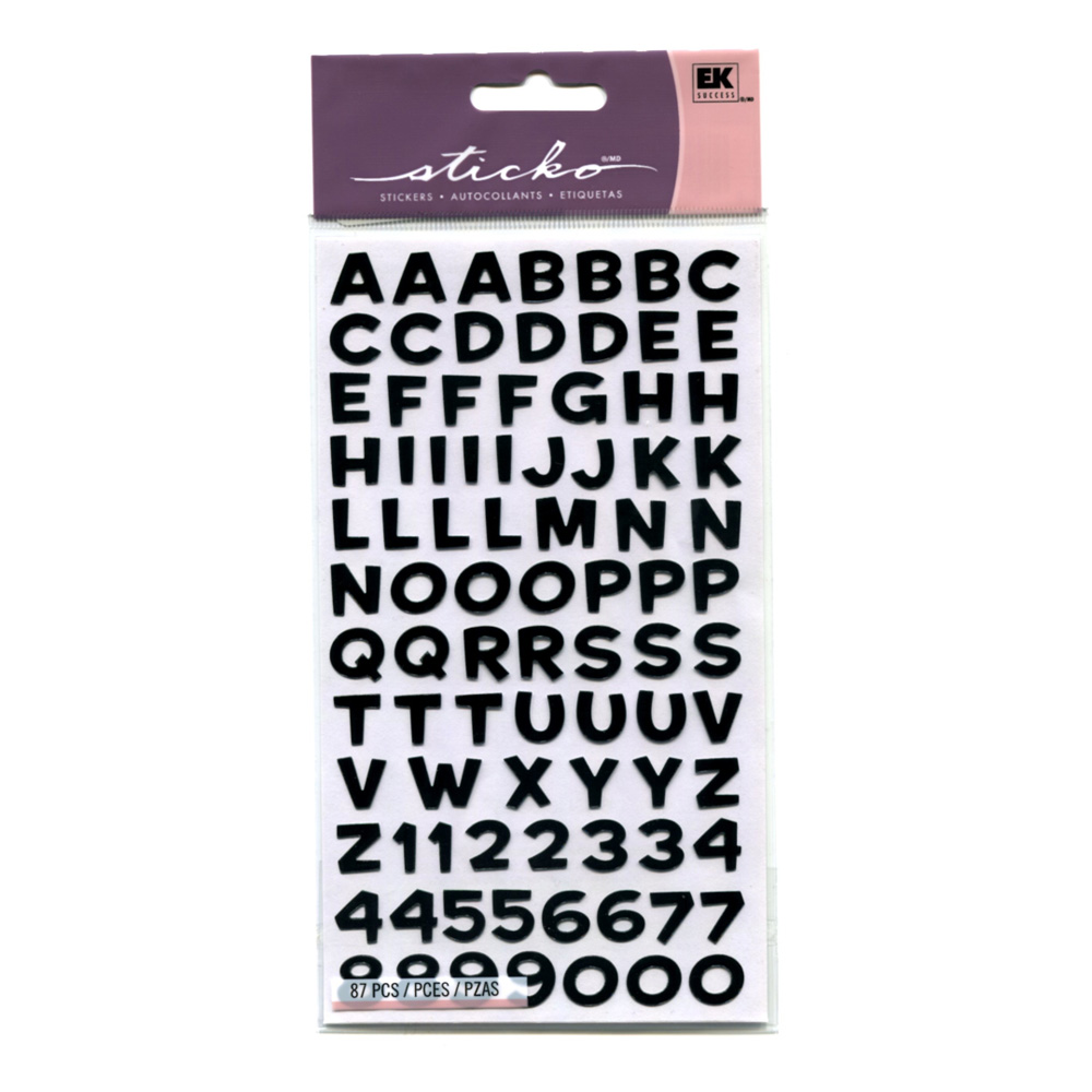 Sticko Stickers Alphabet Funhouse Black