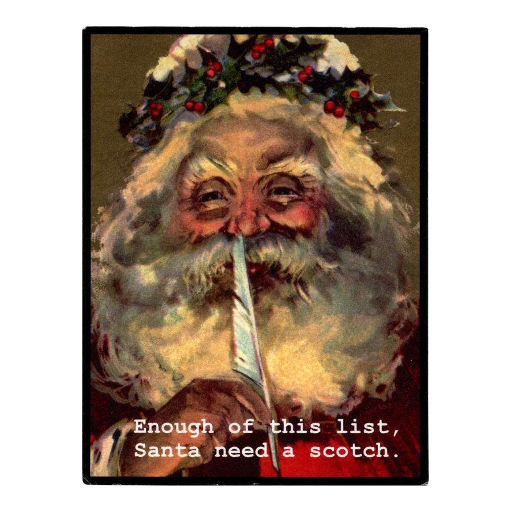 Magnetic Poetry: Santa Need Scotch Magnet