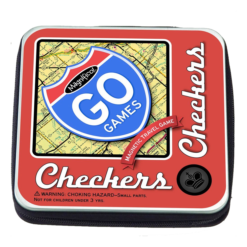 Magnetic Poerty Go Game: Checkers