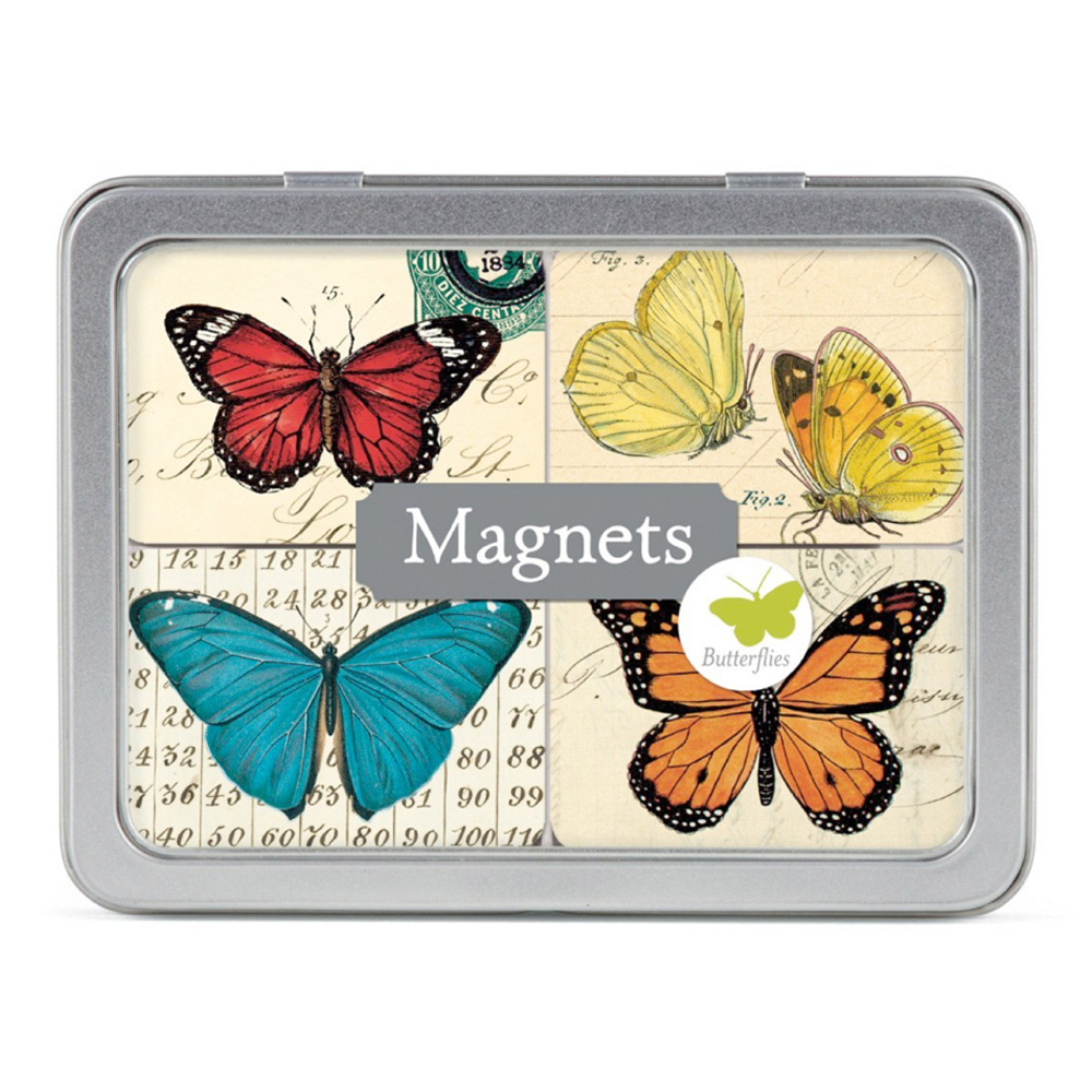 Magnet Set In Tin: Butterflies