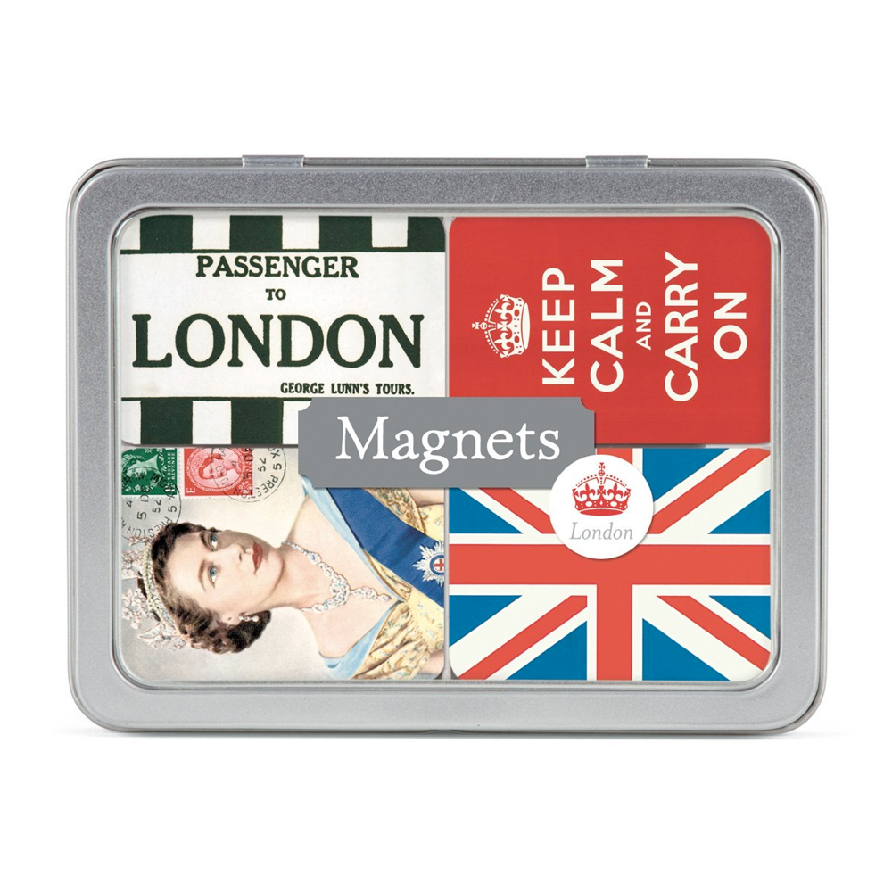 Magnet Set In Tin: London