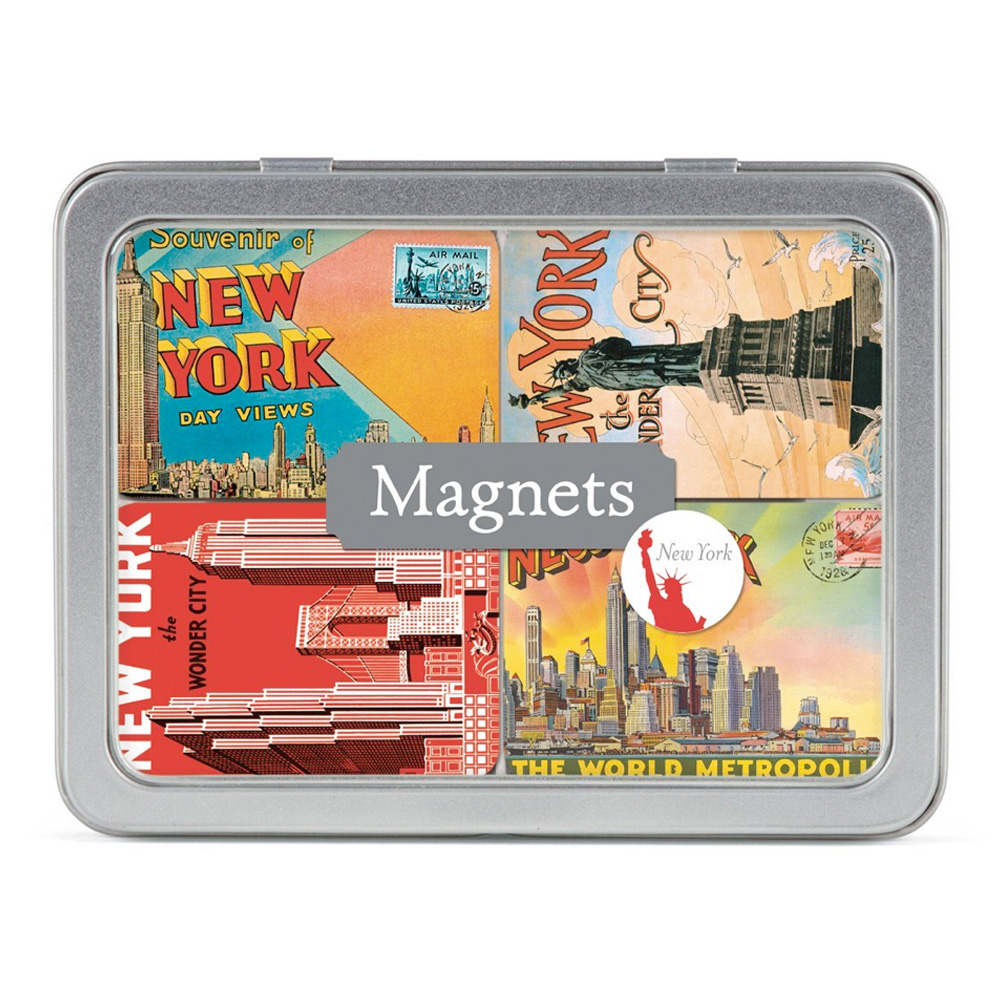 Magnet Set In Tin: New York