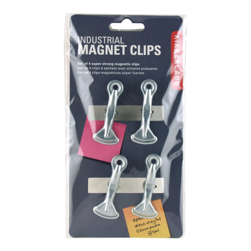 Kikkerland Industrial Magnet Clips Set Of 4