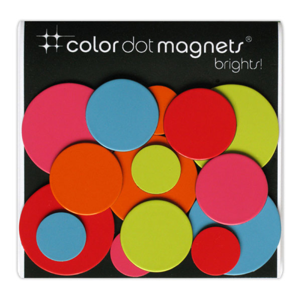 Color Dot Magnets Brights 30Pk