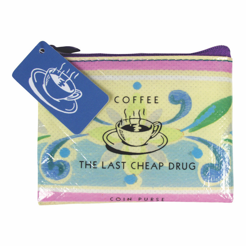 Blue Q Coin Purse Coffee Money