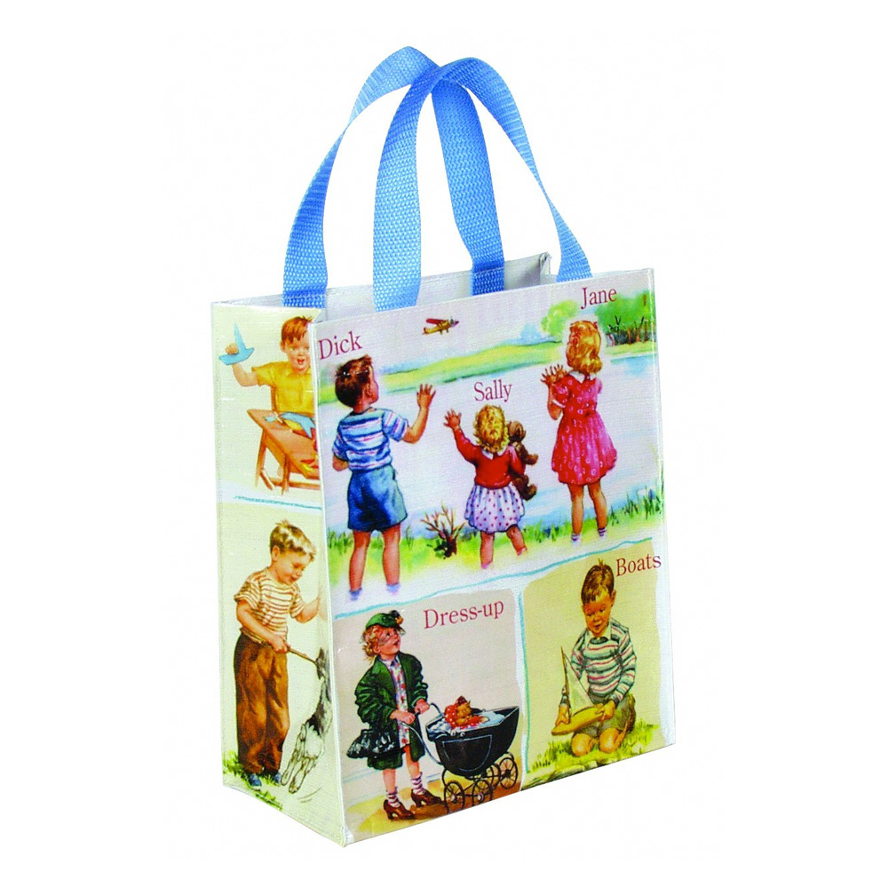 Blue Q Handy Tote Dick And Jane