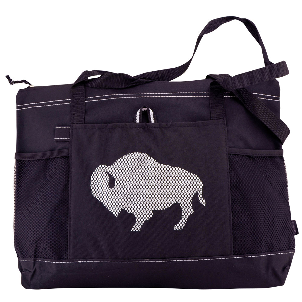 Buffalo Zippered Tote - Black