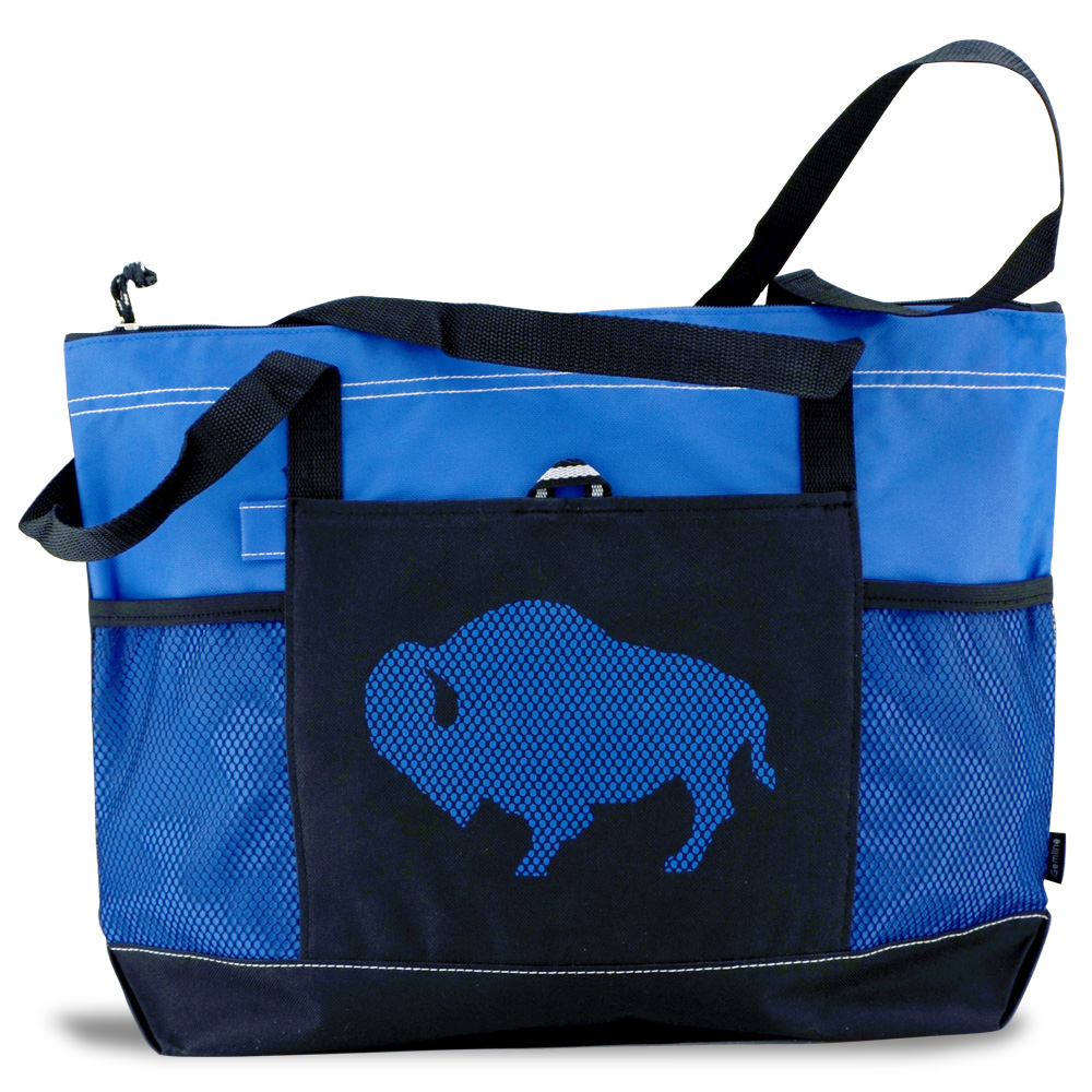 Buffalo Zippered Tote - Royal Blue