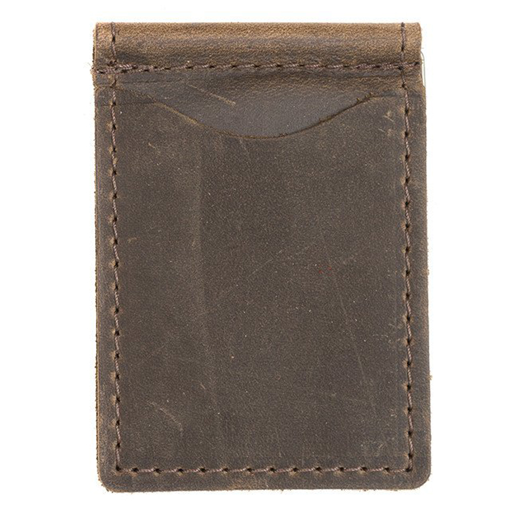 Rustico Leather Money Clip Dark Brown