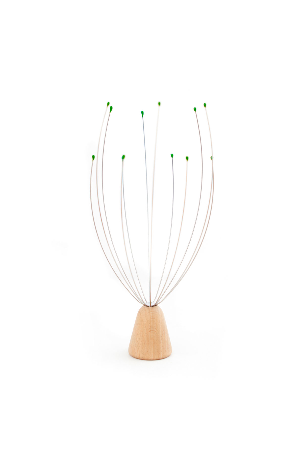 Kikkerland Wooden Standing Head Massager