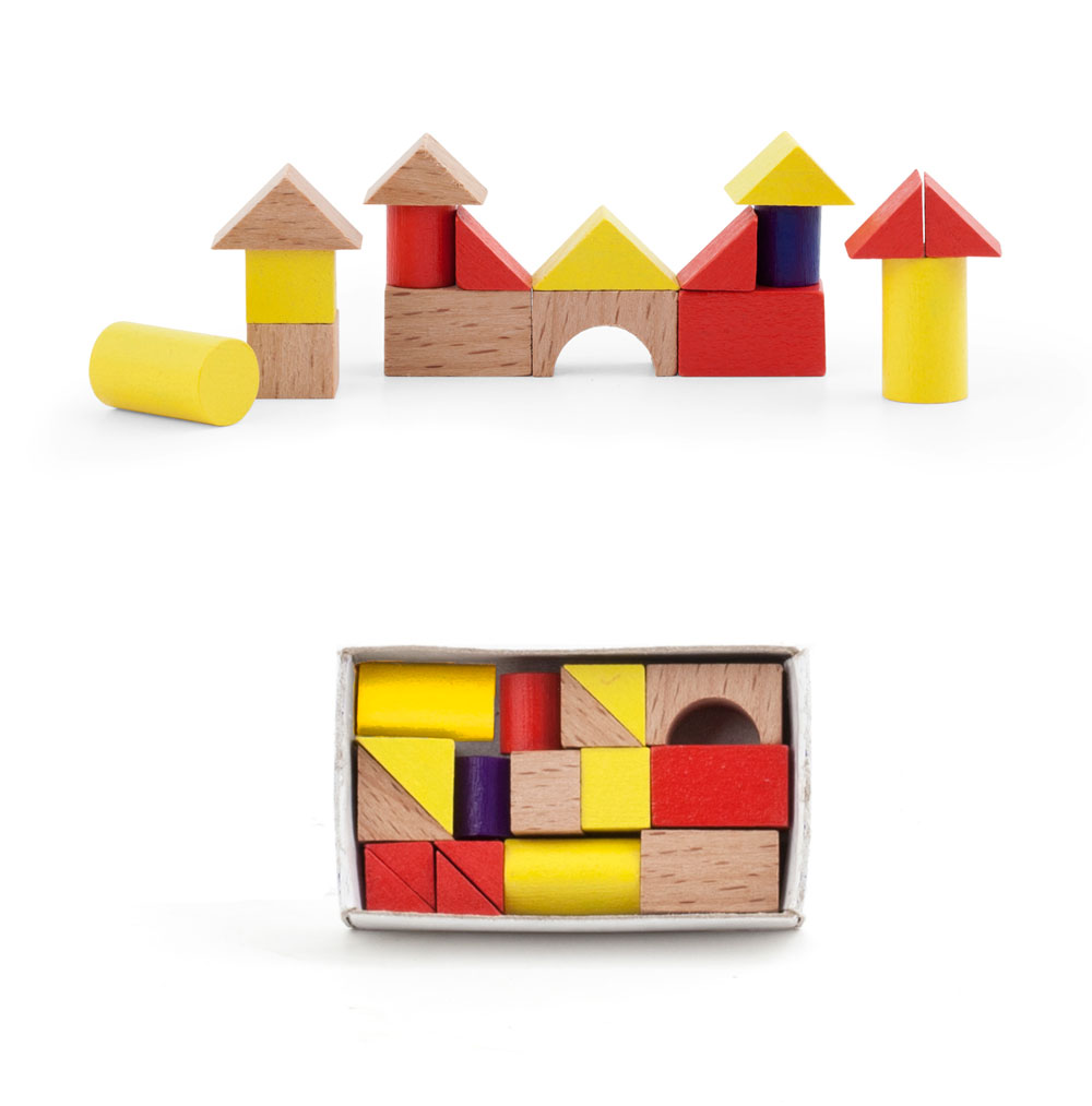 Kikkerland Mini Wood House Puzzle
