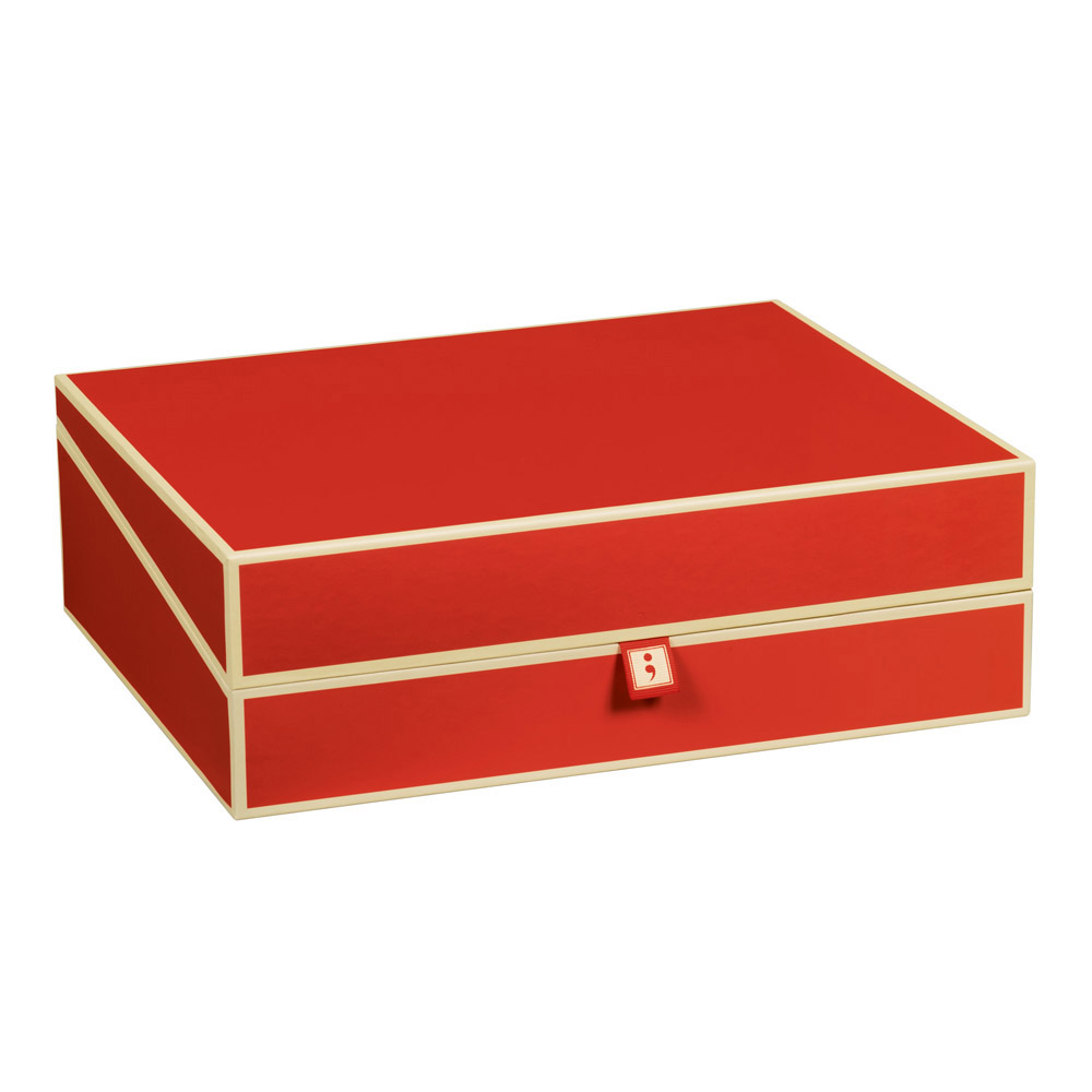 Semikolon Document Storage Box Red