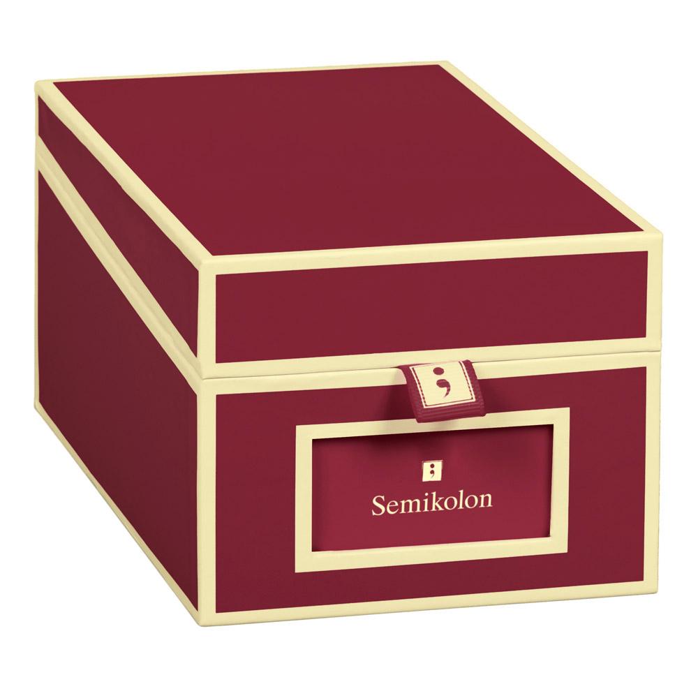 Buy semikolon business card box burgundy semikolon business card box burgundy colourmoves