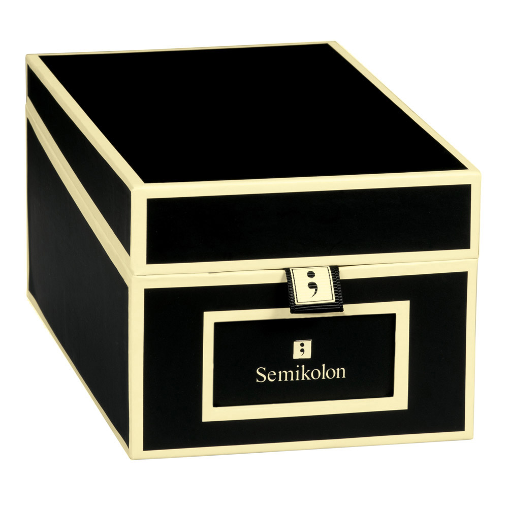 Semikolon Business Card Box Black