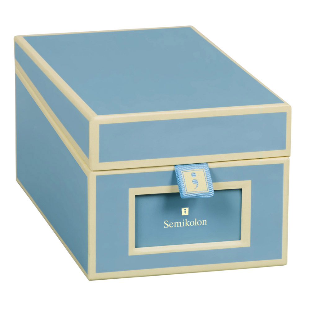 Semikolon Business Card Box Ciel
