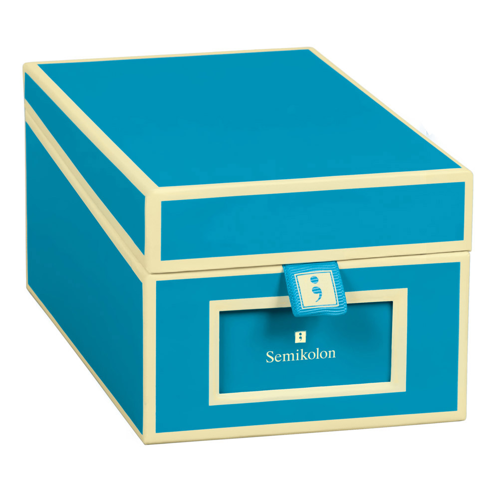 Buy semikolon business card box turquoise semikolon business card box turquoise colourmoves