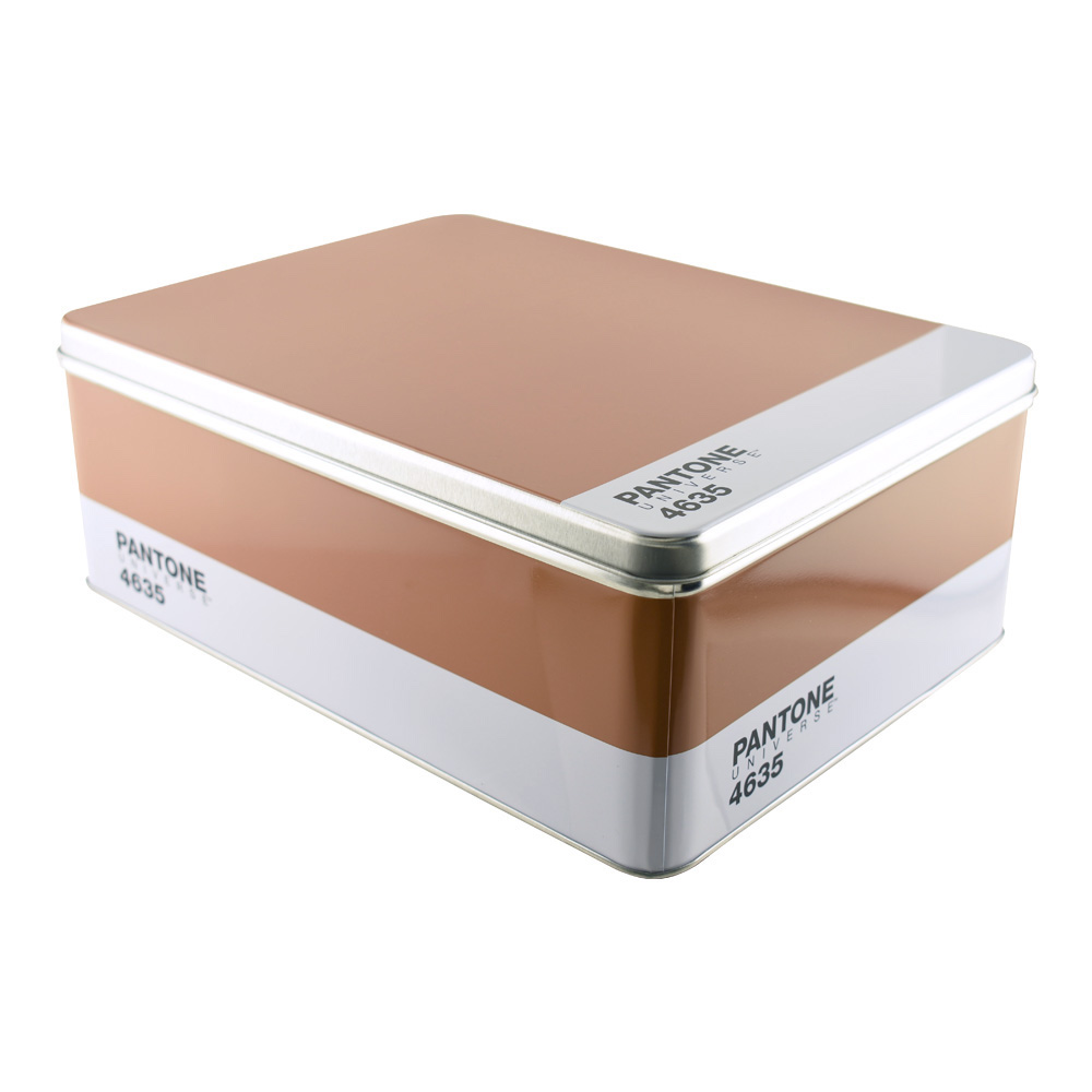 Pantone Metal Storage Box Brown 4635