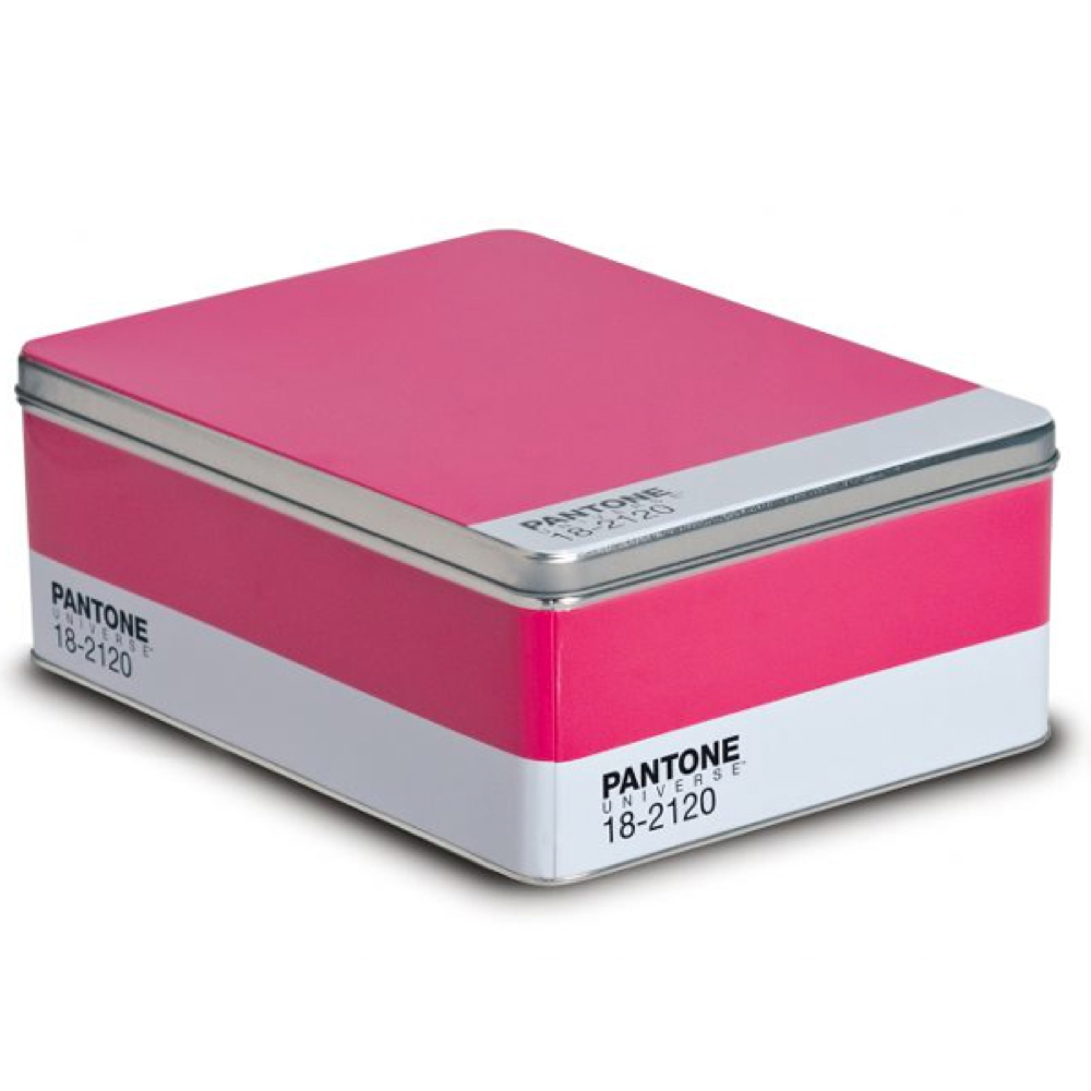 Pantone Metal Storage Box Honeysuckle