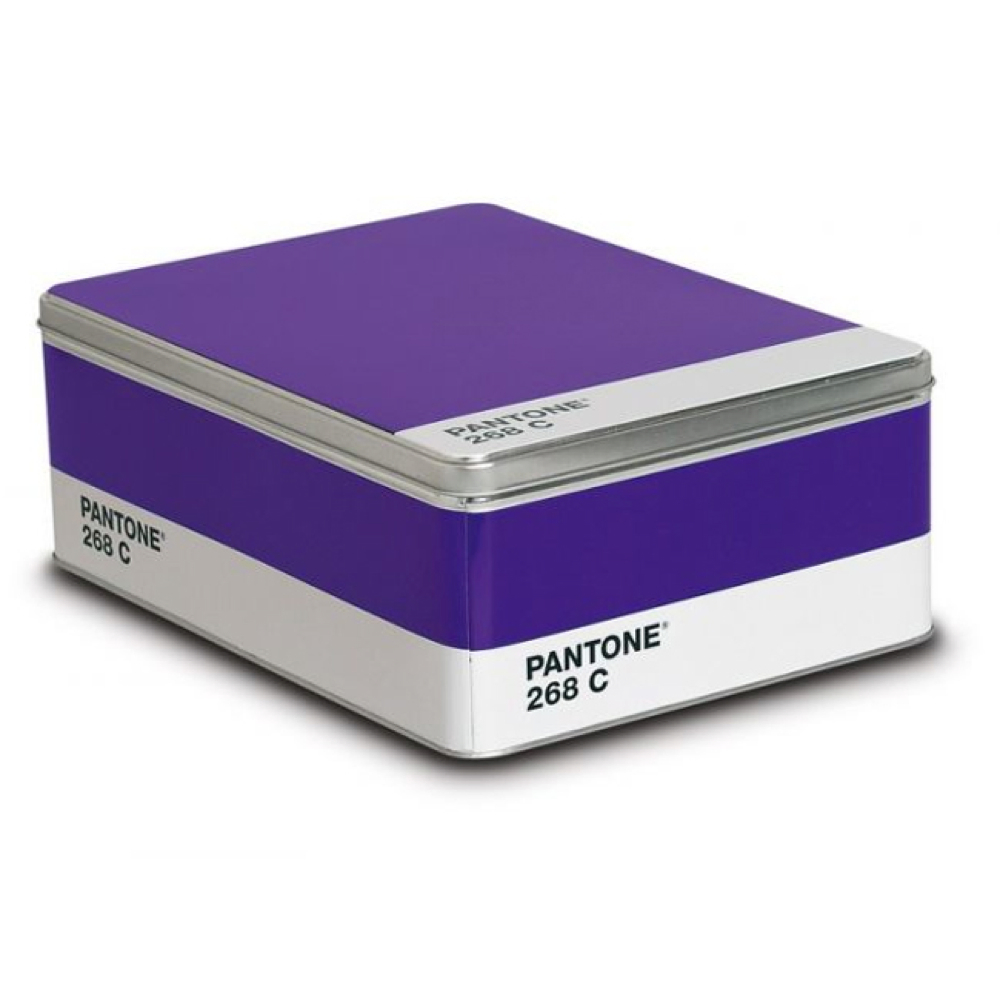 Pantone Metal Storage Box Royal Purple 268C