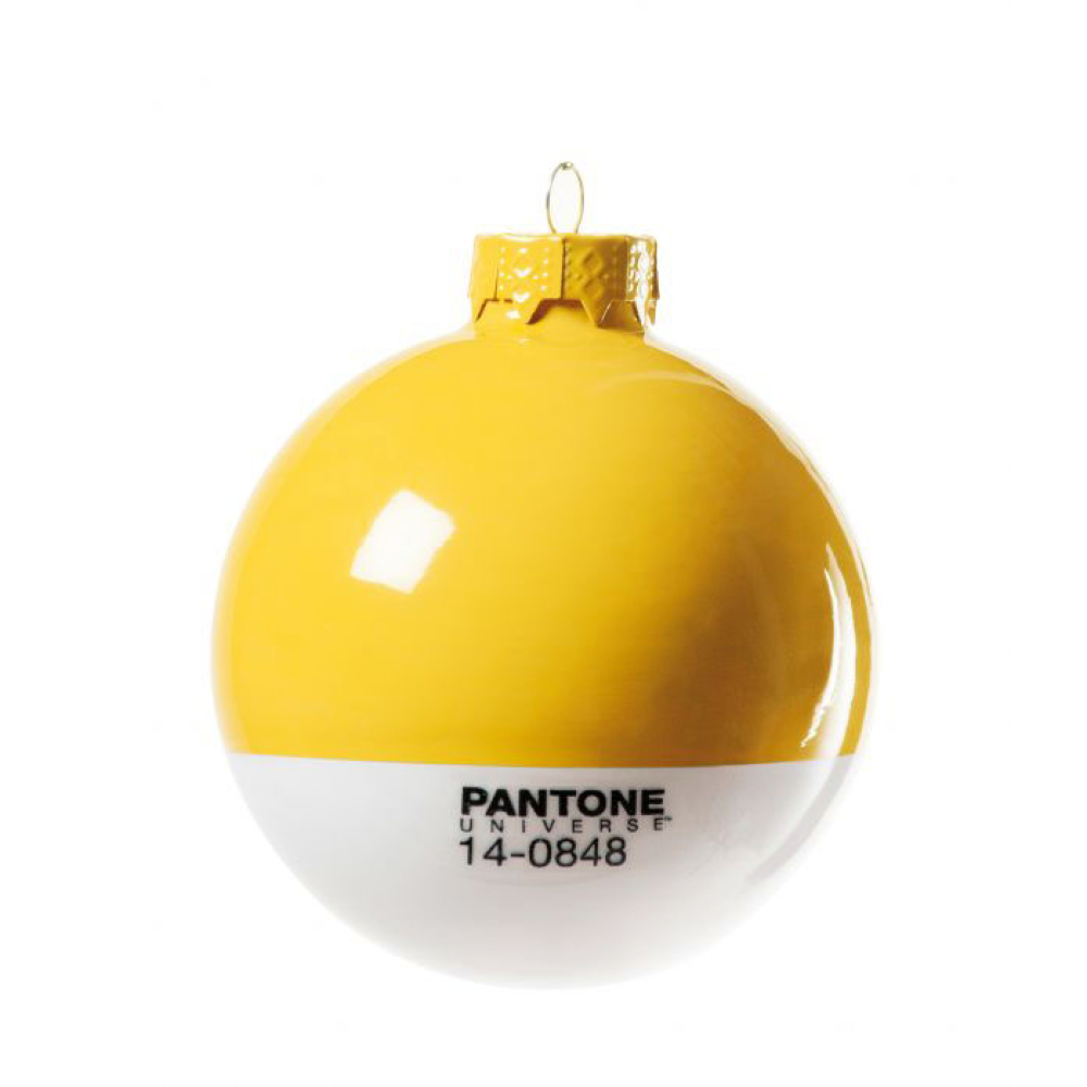 Pantone Christmas Ornament 7406 Yellow